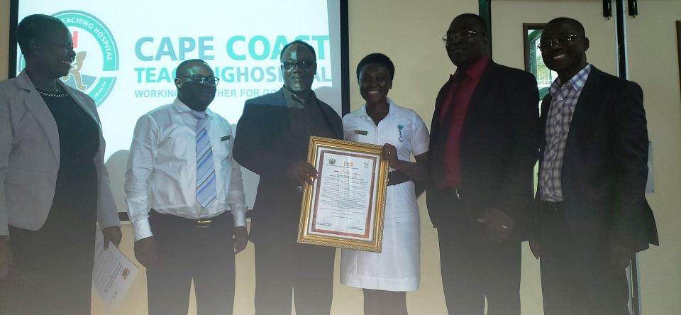 CCTH's Best Midwife For The Year 2018