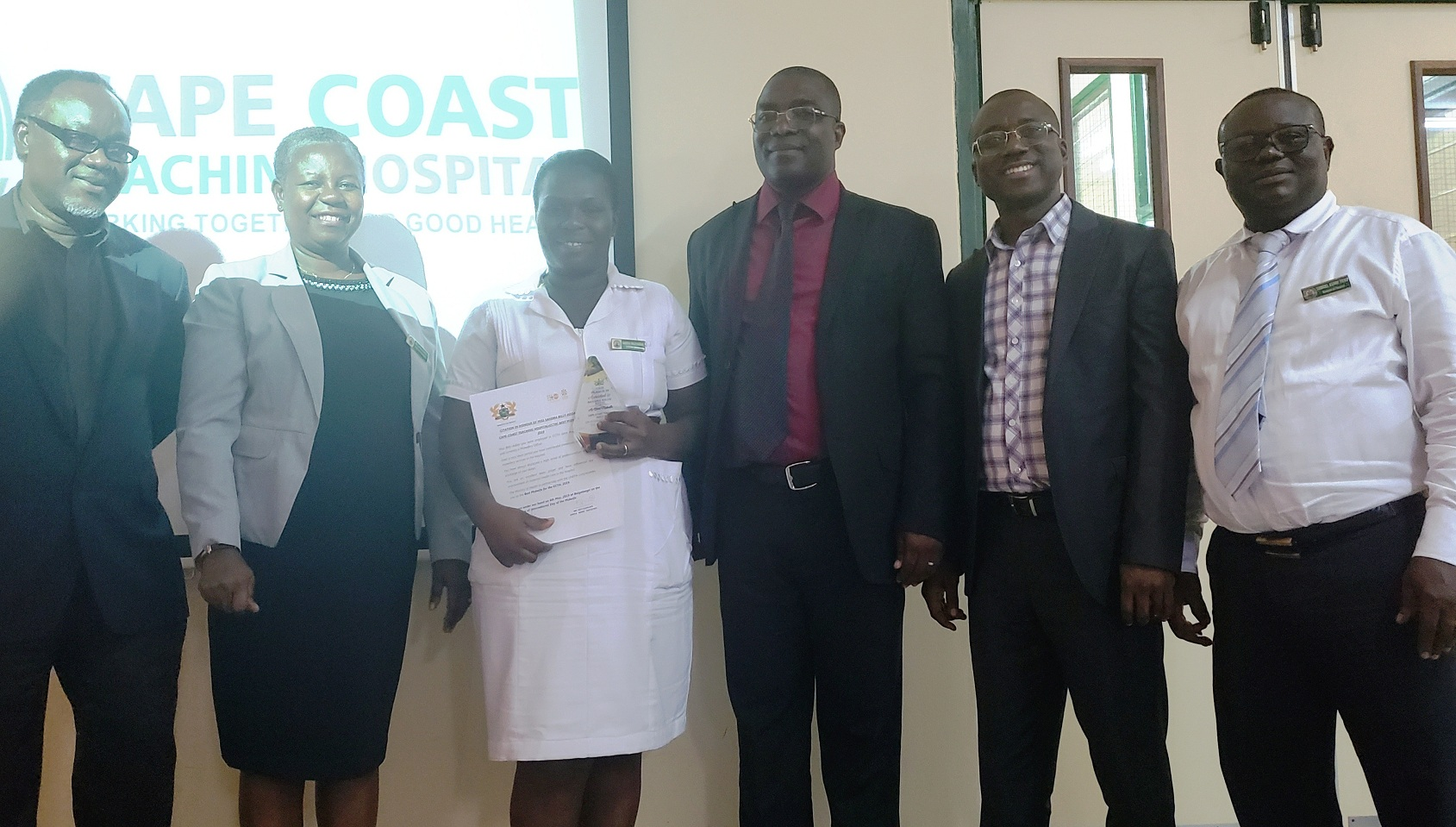 CCTH's Best Midwife For The Year 2019