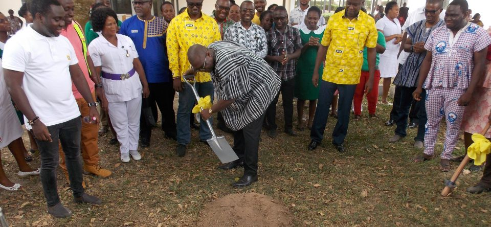 Sod-Cutting Ceremony For New Blood Bank